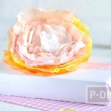 ห่อของขวัญ ด้วยดอกไม้กระดาษ