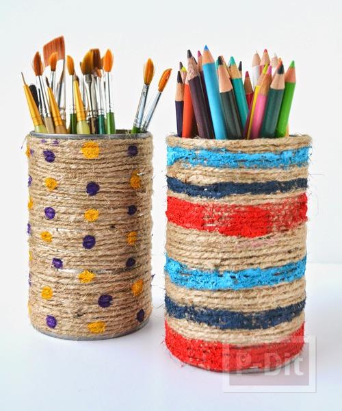รูป 2 กล่องดินสอสี กล่องพู่กันะดับเชือก ทาสี