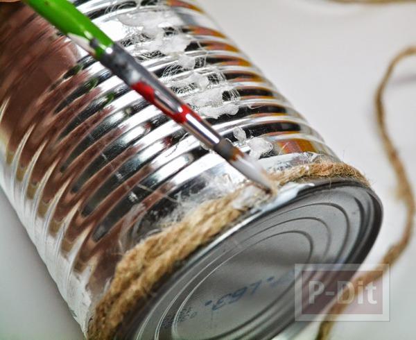 รูป 5 กล่องดินสอสี กล่องพู่กันะดับเชือก ทาสี