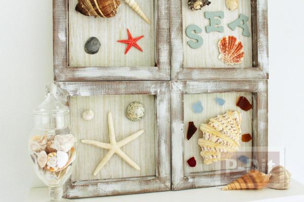 รูป 3 กรอบรูปประดับบ้าน ตกแต่งเปลือกหอย