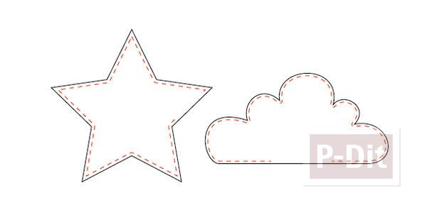 รูป 2 หมอนลายดาว ลายก้อนเมฆ ทำเองน่ารักๆ