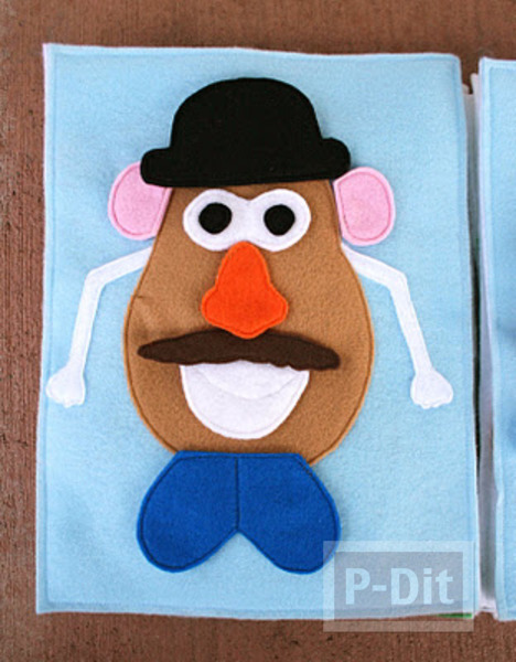 รูป 1 ตกแต่ง Mr.Potato สนุกๆ ทำเองจากผ้า