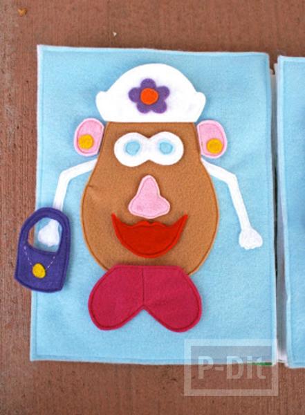 รูป 3 ตกแต่ง Mr.Potato สนุกๆ ทำเองจากผ้า