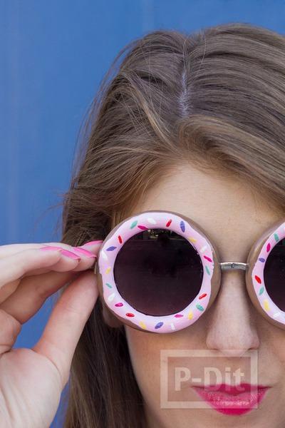 รูป 2 กรอบแว่นตา ลายโดนัทน่ากิน