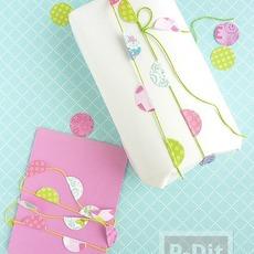 ตกแต่งกล่องของขวัญ งานเลี้ยง จากกระดาษกลม