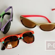 กรอบแว่นตา ทาสีสด ด้วยสีทาเล็บ