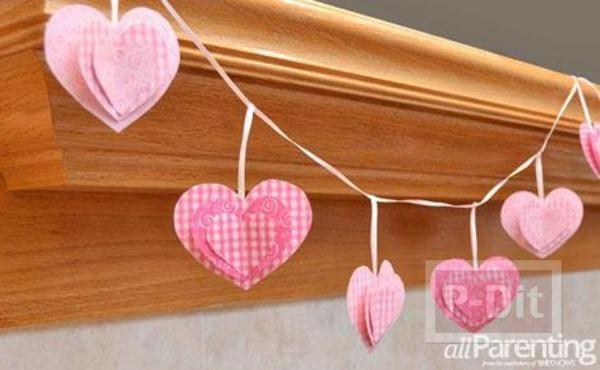 โมบายประดับบ้าน รูปหัวใจ สามชั้น