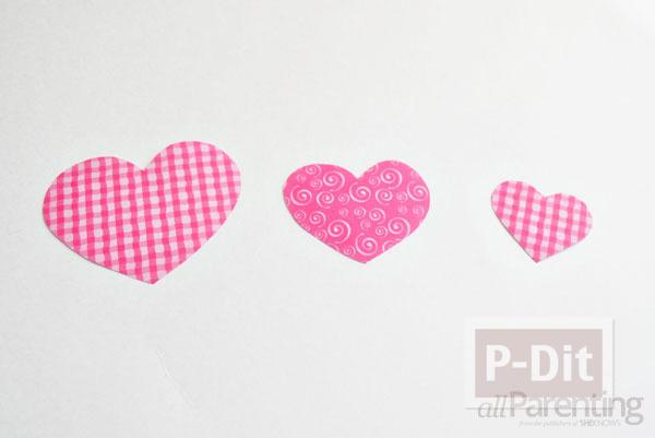 รูป 4 โมบายประดับบ้าน รูปหัวใจ สามชั้น