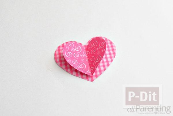รูป 5 โมบายประดับบ้าน รูปหัวใจ สามชั้น