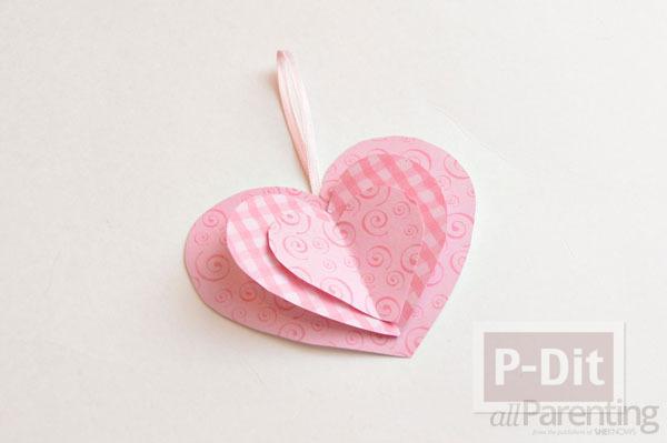 รูป 7 โมบายประดับบ้าน รูปหัวใจ สามชั้น