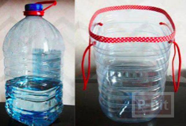 รูป 2 ไอเดียทำที่ใส่ของเล่น จากขวดน้ำพลาสติก