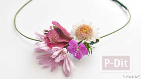 รูป 4 ไอเดียทำมงกุฎดอกไม้สด