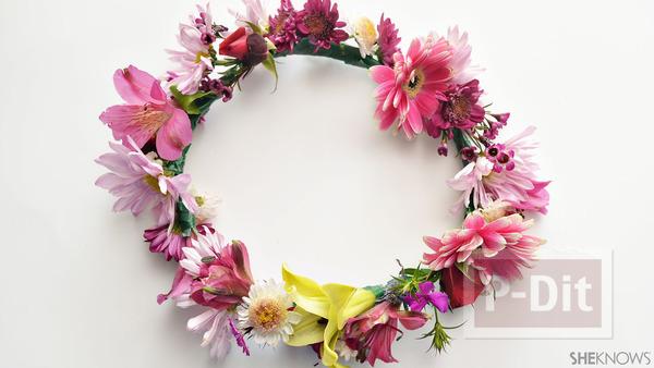 รูป 5 ไอเดียทำมงกุฎดอกไม้สด
