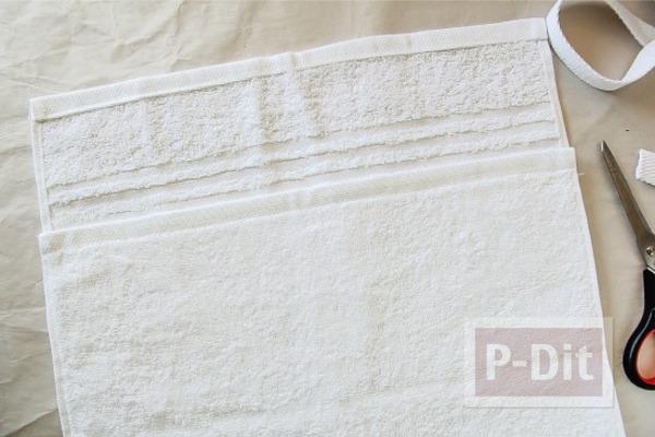 รูป 2 เย็บกระเป๋าชายหาด ลายมินนี่เมาส์ ด้วยผ้าเช็ดตัว