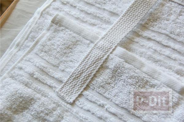 รูป 4 เย็บกระเป๋าชายหาด ลายมินนี่เมาส์ ด้วยผ้าเช็ดตัว