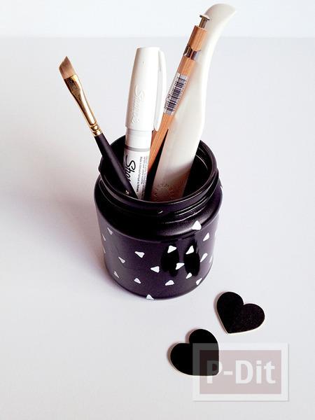 รูป 2 ทำที่ใส่ดินสอ แปรงแต่งหน้า จากขวดแก้ว