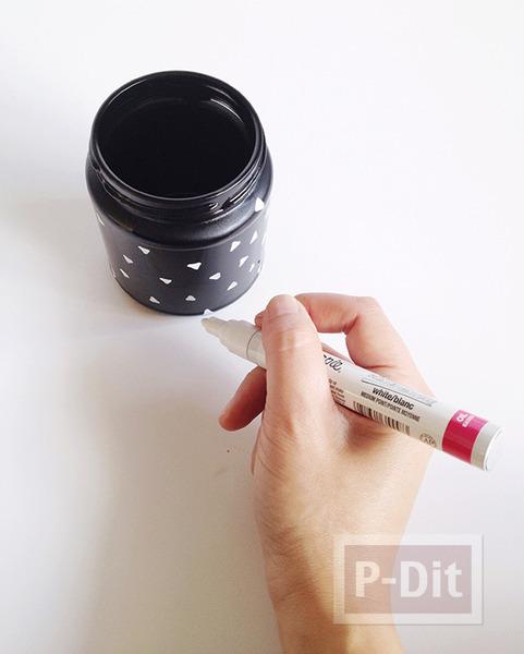 รูป 4 ทำที่ใส่ดินสอ แปรงแต่งหน้า จากขวดแก้ว