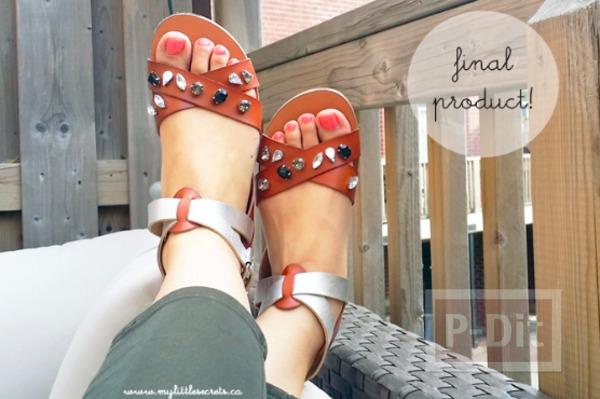 ตกแต่งรองเท้าคู่สวย ด้วยเม้ดคริสตัล