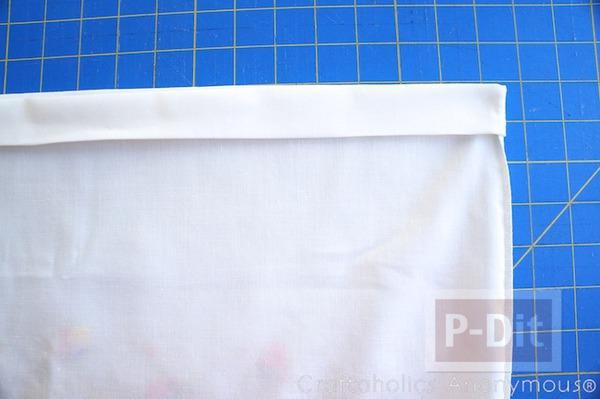 รูป 4 สอนเย็บกระโปรง ลายสวย จากปลอกหมอน