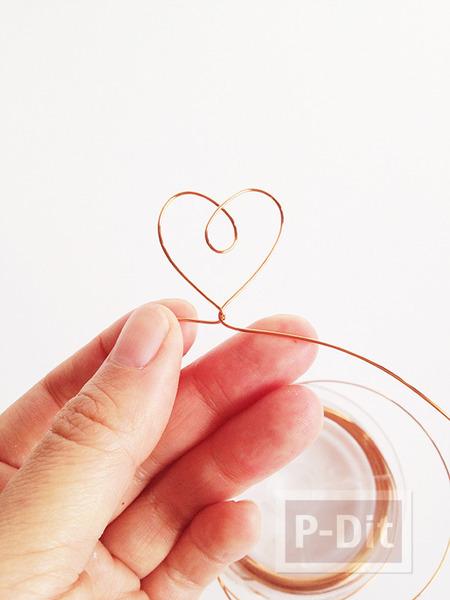 รูป 7 มงกุฎหัวใจ ทำจากลวดทองแดง