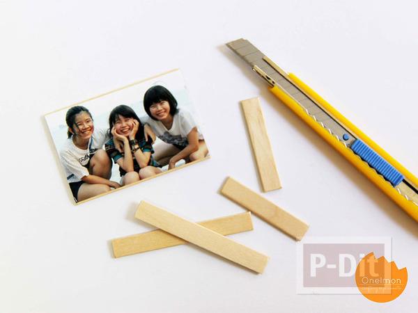 รูป 5 กรอบรูป ทำจากไม้ไอติม