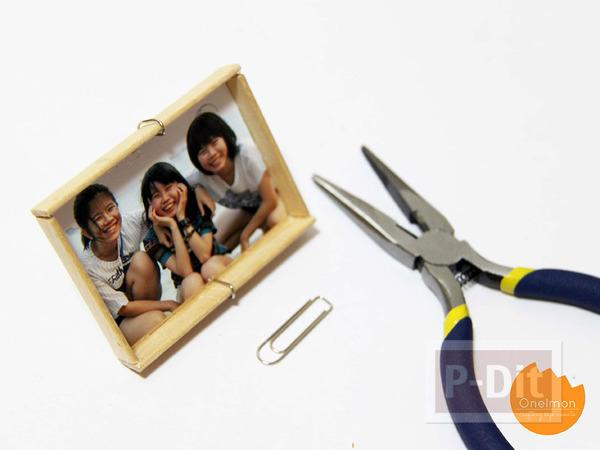 รูป 7 กรอบรูป ทำจากไม้ไอติม