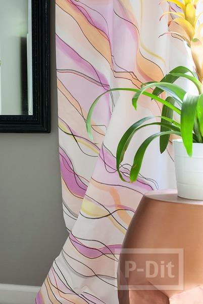 ระบายสีผ้าม่านสวยๆ ประดับบ้าน