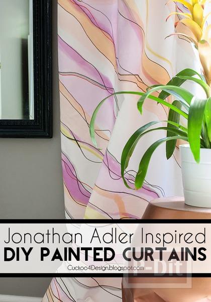 รูป 2 ระบายสีผ้าม่านสวยๆ ประดับบ้าน
