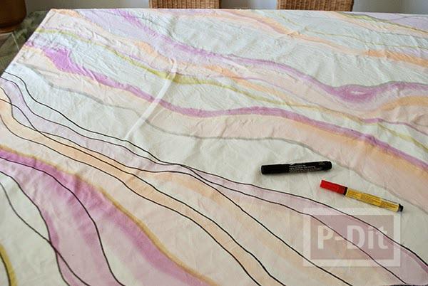 รูป 4 ระบายสีผ้าม่านสวยๆ ประดับบ้าน
