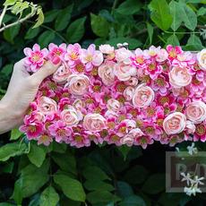 กระเป๋าถือ ประดับดอกไม้ประดิษฐ์ สีสด