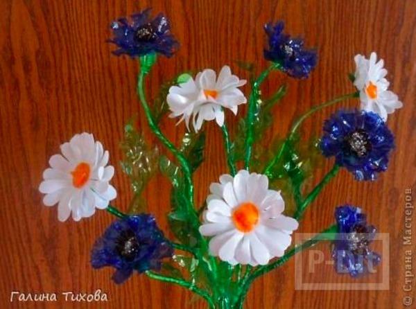 รูป 1 ช่อดอกไม้สวยๆ ทำจากดอกพลาสติก