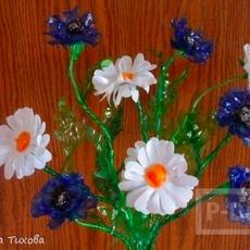 ช่อดอกไม้สวยๆ ทำจากดอกพลาสติก