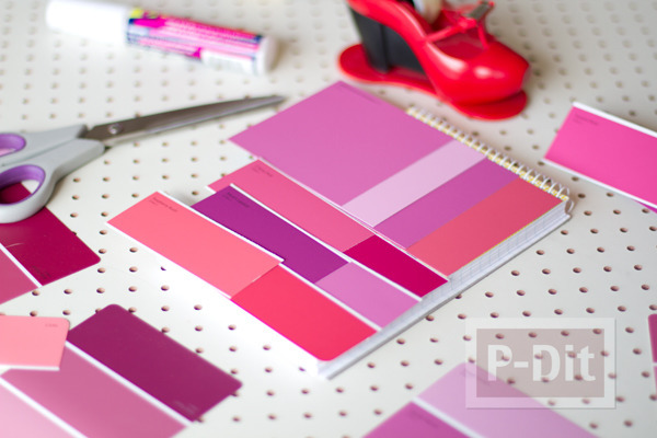 รูป 4 ปกสมุดโน๊ต ตกแต่งลายสวย สีสด