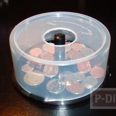 กระปุกออมสิน ทำจากกล่องใส่ CD
