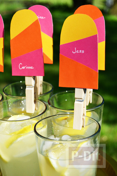 รูป 5 ไอเดียทำป้ายชื่อ ติดแก้วน้ำดื่ม งานปาร์ตี้