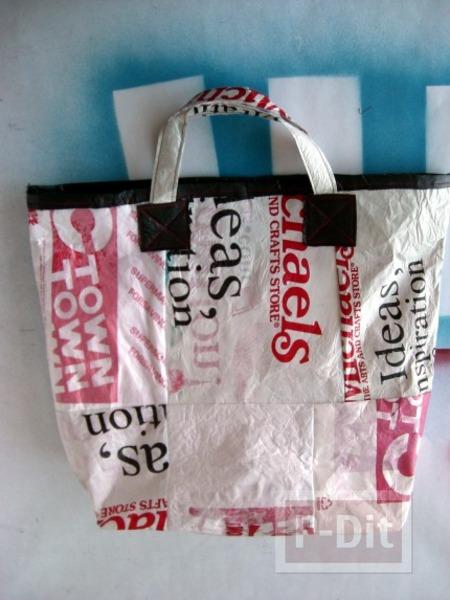 ไอเดียทำกระเป๋า จากถุงพลาสติก