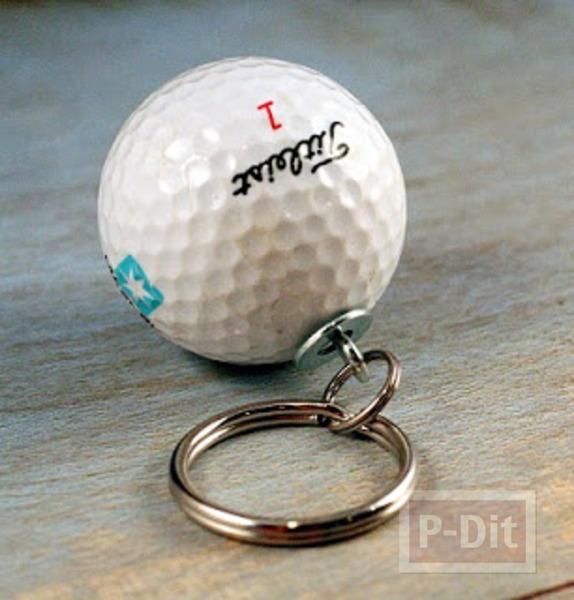 พวงกุญแจ ทำจากลูกกอล์ฟ