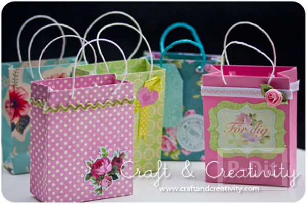 รูป 1 สอนพับถุงของขวัญ จากกระดาษสีสวย