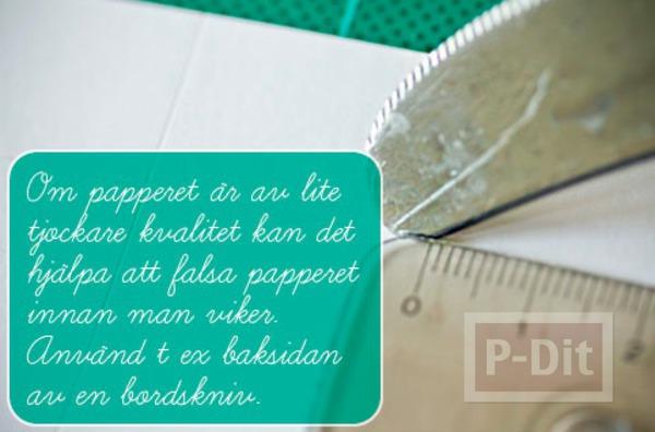 รูป 3 สอนพับถุงของขวัญ จากกระดาษสีสวย