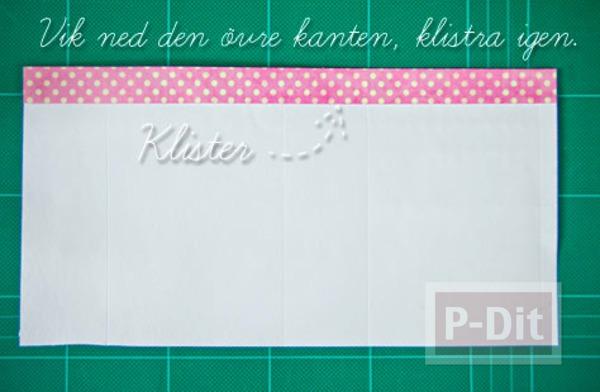 รูป 4 สอนพับถุงของขวัญ จากกระดาษสีสวย