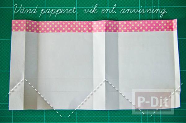รูป 7 สอนพับถุงของขวัญ จากกระดาษสีสวย