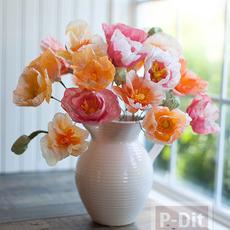 ทำดอกไม้ จากกระดาษทิชชู