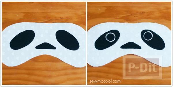 รูป 4 ผ้าปิดตา ลายหมีแพนด้า