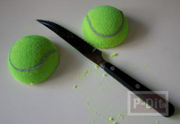 รูป 3 สอนทำที่วางโทรศัพท์ จากลูกเทนนิส