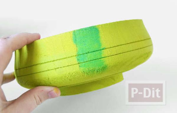 รูป 7 ชามลายแตงโม ระบายสีสด