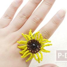 สอนทำแหวน ดอกทานตะวัน