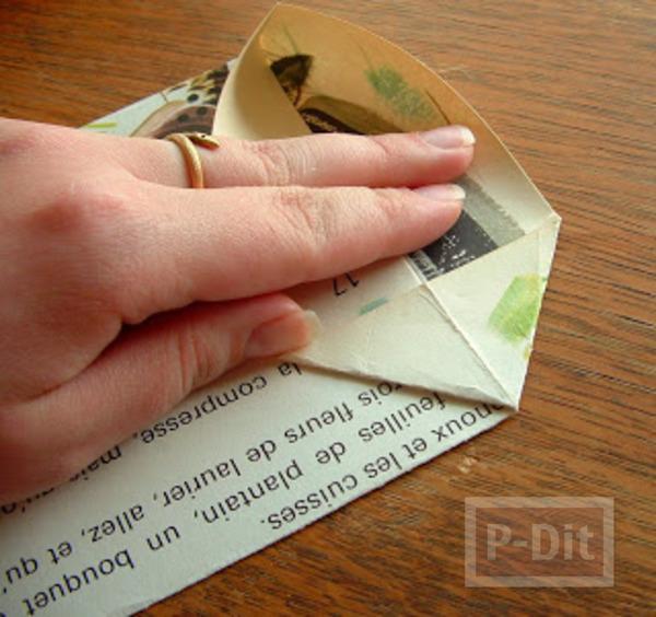 รูป 4 สอนพับถุงกระดาษ ลายสวย