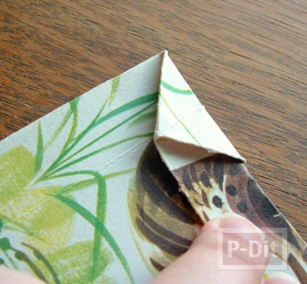 รูป 7 สอนพับถุงกระดาษ ลายสวย