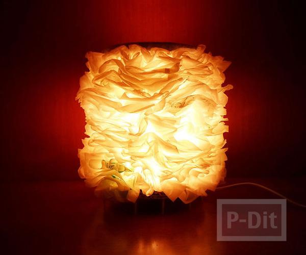 สอนทำโคมไฟจากถุงพลาสติก และกระดาษลัง