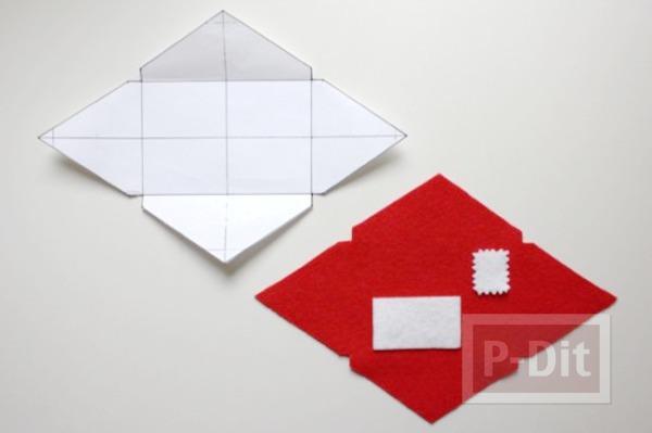 รูป 3 สอนทำซองจดหมาย ขนาดพอดีกับจดหมาย หรือการ์ด